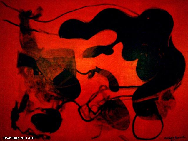 abstration rouge et noir